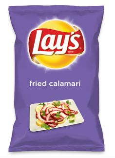 Wouldn't fried calamari be yummy as a chip? Lay's Do Us A Flavor is back, and the search is on for the yummiest flavor idea. Create a flavor, choose a chip and you could win $1 million! https://www.dousaflavor.com See Rules.