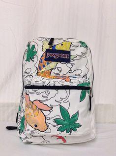 Jansport Backpack backpack bagPainted Koi by crazygoodbananas