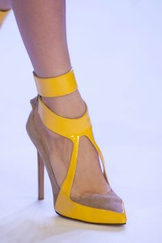 Stéphane Rolland Yellow Sandal Haute Couture Spring Summer 2014 #Shoes #Heels