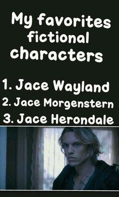 Jace wayland Jace morgenstern Jace herondale