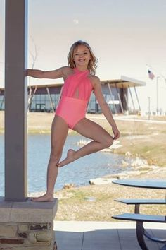 Excited to share this item from my shop: Avery Halter Neck Dance Leotard. Girls Dancewear, Girls Leotards, Dance Leotards, Cute Young Girl, Cute Girls, Little Girl Dancing, High Waisted Briefs, Striped One Piece, Beautiful Little Girls