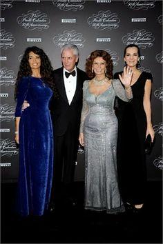 Afef Jnifen, Marco Tronchetti Provera, Sophia Loren, Roberta Armani  #gala #pirelli