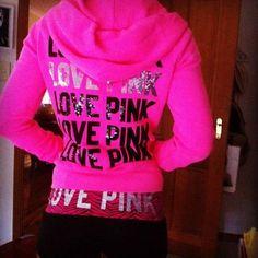 victoria's secret pink hoodie :)