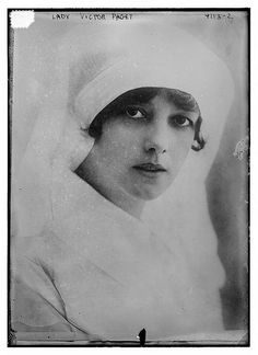 """Lady Victor Paget (LOC)""""Lady Victor Paget is giving her whole time to the care of the wounded In England. She a member by marriage of the family which has so many connections in this country and is a conspicuous figure in London society."""" She was the former Olive May (Mary) Meatyard,"""