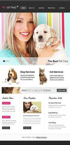 Facebook HTML CMS Template #template // Regular price: $59 // Unique price: $8500 // #Facebook #Animals #Pets