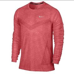 ad8ff0159a4f NEW Nike Men s Dri-Fit Long Sleeve Performance T-Shirt Gym Red 596177 688