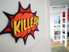 Comic Callout Door Sign by dmilesson [Instructables] - maybe paper or foamcore versions for a party
