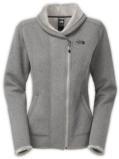 The North Face Women's Banderitas Full Zip Sweater Jacket - Pache Grey Heather