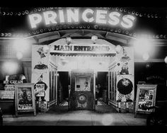 FLASHBACK THURSDAY: Here's a picture of The Princess Theatre in it's original Church Street location. This is circa 1920, just before the moved to the corner of Maple and College. (The Guidance Center is the current resident of this particuliar building)