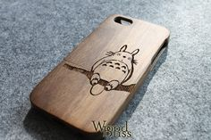 iPhone 5s Case Walnut Wood iPhone 5s Case Totoro by WoodBliss, $20.00