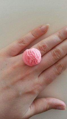 Strawberry Iceream Ring by Pretty Penguin on Etsy, £2.50  #kawaii #lolita #accessory #etsy