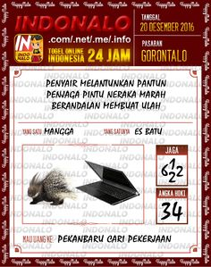 Undian Lotre 4D Togel Wap Online Live Draw 4D Indonalo Gorontalo 20 Desember 2016