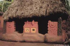 Titled Igbo woman's house, Nigeria, 1973. Photo by Herbert Cole