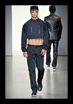 Calvin Klein Spring 2011 and the attempt at the male cropped top. I didn't hate it.