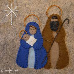 Nativity Applique Block | Wee Folk Art