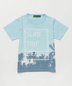 KRIFF MAYER(クリフメイヤー)の「トコナツTEE(半袖/Tシャツ/転写/プリント/子供服/通学服)(Tシャツ/カットソー)」|サックスブルー