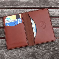 Gift idea, GARNY No.5 Leather Card Case Chestnut Brown by garnydesigns, $109.00