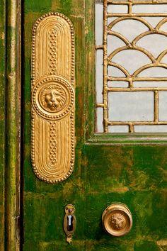 Door of James Whistler's Peacock room (Smithsonian)