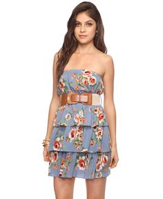 Tiered Floral Dress | FOREVER21 - 2000035963