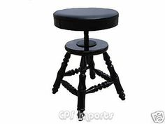 """Adjustable Piano Stool Bench by CPS. Save 65 Off!. $169.99. The Adjustable Piano Stool is perfect for low profile seating for students & teachers. Top diameter is 14"""". It weighs about 15 pounds. Its height can be adjusted from 16 1/2"""" to 23 1/2"""". It is made of solid hard wood. The seat is covered with well-padded leatherette. No assembly required.  Available in ebony (black) color with high gloss finish.  This product carries a one-year limited warranty against defects in materials ..."""