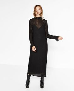 Image 1 of LONG VICTORIAN STYLE DRESS from Zara