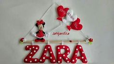 By Sanjarilica, Croatia Felt Name Banner, Name Banners, Felt Kids, Textiles, Croatia, Minnie Mouse, Projects To Try, Honey, Homemade