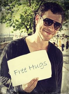 Free hugs from Joseph Morgan.. Yes! -This isn't humorous, but I don't know where else to put it...