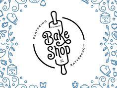 Bake Shop monoline dutch ceramic logo Bake Shop Best Picture For fashion Logos Design For Your Taste You are Baking Logo Design, Cake Logo Design, Circle Logo Design, Food Logo Design, Minimal Logo Design, Menu Design, Identity Design, Brand Identity, Logo Restaurant