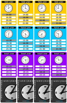 Telling Time to the Quarter Hour Bingo - 25 Different Game Boards - CCSS After School, Pre School, Math Clock, Job Info, Teaching Time, Karaoke, Math Classroom, Maths, School Hacks