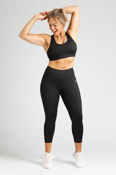 Essential Length Tight in Black — Active Truth – Active Truth™ Sleek Look, Black 7, Fitness Fashion, Perfect Fit, Activewear, Tights, Essentials, The Incredibles, Pockets