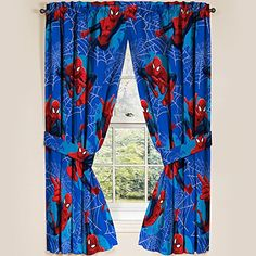 """Marvel Ultimate Spiderman Spider-Man Panels Drapes Curtains, Set of 2, 42"""" x 63"""" each Marvel http://www.amazon.com/dp/B00F30H1XQ/ref=cm_sw_r_pi_dp_b.u2vb0QGKDNP"""