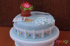Flower Pot Cake  #Jardin #Cake #ponque #torta #cakeshop #pudin #decoracion