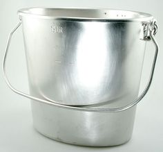 Swiss Army stainless steel bucket
