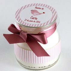 Vela recuerdo Bautizo Baby Jars, Baby Food Jars, Bomboniere Ideas, Paper Dahlia, Baby Shawer, Candle Containers, Baby Boy Fashion, Baby Prints, Easter Crafts
