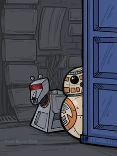 BB8, K-9 and the Tardis .Oh, the adventures they'd have! By Karen Hallion.