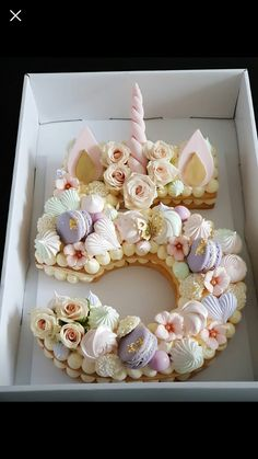La folie des number cakes - See Tutorial and Ideas Pretty Cakes, Cute Cakes, Beautiful Cakes, Amazing Cakes, Unicorn Birthday Parties, Unicorn Party, Unicorn Cakes, Unicorn Cupcakes Cake, Unicorn Cake Decorations