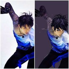 Anime version of Yuzuru Hanyu - Sochi 2014 Olympic gold medalist - mens' figure skating.