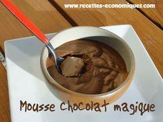 La recette de la mousse au chocolat magique, en utilisant du jus d'orange, sans monter les blancs en neige et en utilisant le thermomix.