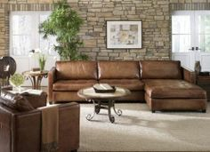 Phoenix Full Aniline Leather Sectional Sofa With Chaise Vintage Amaretto Toscana Home Interiors