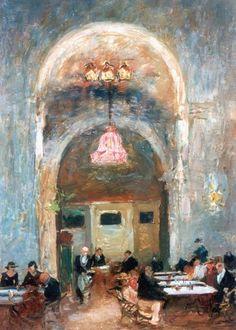 Au Cafe - Wilhelmus Hendrikus Petrus Johannes 'Willem' de Zwart Dutch painter 1862-1931 Impressionism
