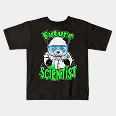 Future Scientist Cute Panda Bear STEM Science Geek - Future Scientist Panda - Kids T-Shirt | TeePublic