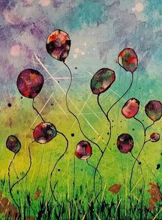 TITLE: {whimsical flowers}   By: Ashley Kunz www.facebook.com/AutumnInDecember  Artwork by: Ashley Kunz #art #abstract #liquitex60th #acrylic #flowers #whimsical #colorful #wallart #abstract #abstractart #abstractartist #abstractpainting #acrylic #art #arte  #artgallery #artist #artwork #color #colour #creative #myart #onlineart #onlineartgallery #paint #painting #paintings #phototag  #wallart #mixedmedia