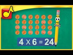 This fun video clearly explains what multiplication is all about. Students get a good understanding of how multiplication is repeated addition. This video also covers the Nines Trick, how to use manipulative objects such as pennies to understand multiplication, the commutative property of multiplication, and more.