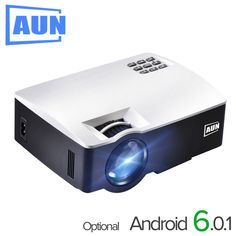 AUN LED Proyector for Home Theater, 1800 Lumens, Support Full HD Mini projector (Optional Android 6 Support Video) Home Theater Price, Home Theater Setup, Best Home Theater, Home Theater Speakers, Home Theater Projectors, Home Theater Seating, Movie Theater, Mini Projektor, Tv Box