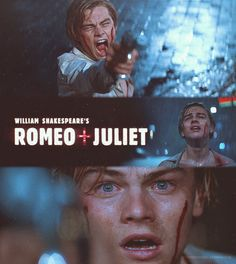 Romeo + Juliet his hottest look haha but true Leonardo Dicaprio Romeo, Romeo And Juliet Poster, Romeo Juliet 1996, William Shakespeare, Great Love Stories, Love Story, Baz Luhrmann Movies, Romeo Montague, Submarine Movie
