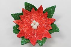 "Art Room 104 - 1/13/13 :""Finished Poinsettia Pots.""  These are beautiful! Included is a great tutorial."