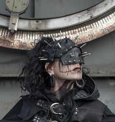 Post Apocalyptic Rubber Face Mask / Pin Head / dark future / dystopia / cosplay / industrial