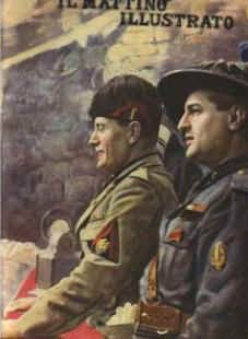 Mussolini with Starace