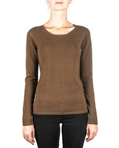 Damen Kaschmir Pullover Rundhals mocha front Elegant, Pullover Sweaters, Tops, Fashion, Cashmere Sweaters, Sweater Cardigan, Get Tan, Cast On Knitting, Woman