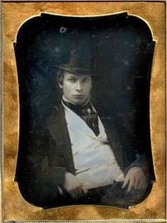 ca. 1850's, [daguerreotype portrait of a young man]  via Live Auctioneers, Be-hold